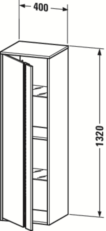 Duravit Ketho Badmöbel-Set 750 mit Vero Waschtisch - Optional mit Seitenschrank und Spiegel  zoom thumbnail 5