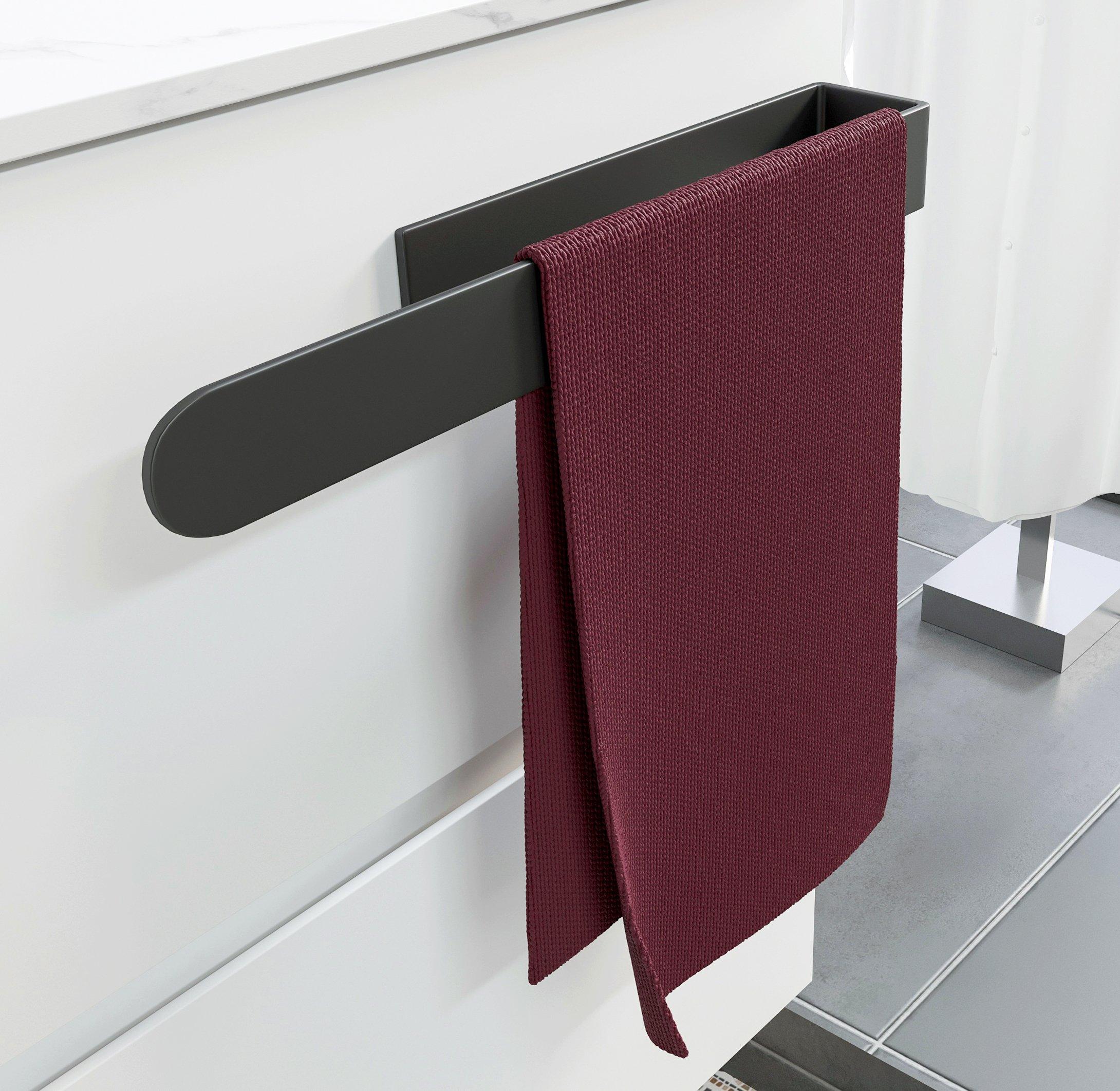 Selbstklebender Handtuchhalter HH35 Korpusmontage für Badmöbel - Farbe wählbar zoom thumbnail 6