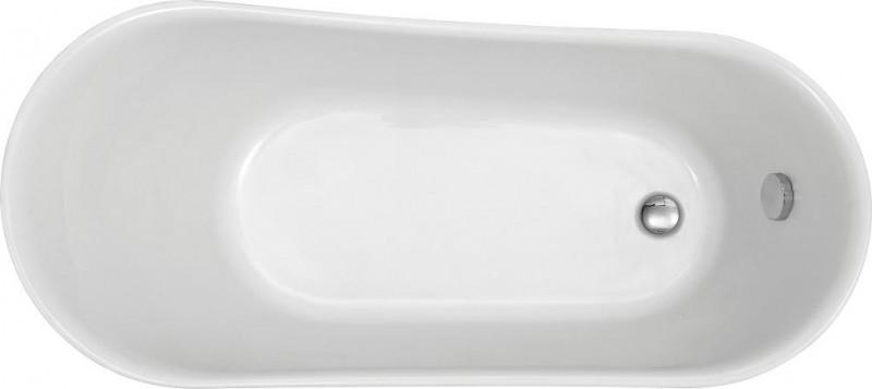 Freistehende Badewanne PARIS Acryl Weiß matt oder glänzend - 176 x 71 cm - Metallfüße & Standarmatur wählbar zoom thumbnail 4
