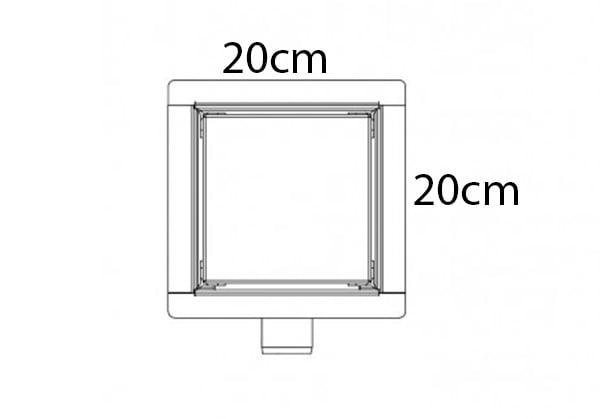 20 x 20 cm
