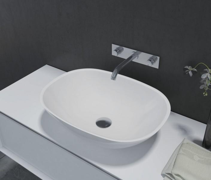 Aufsatzbecken Aufsatz-Waschbecken oval PB2202 - 55 x 40 x 15 cm
