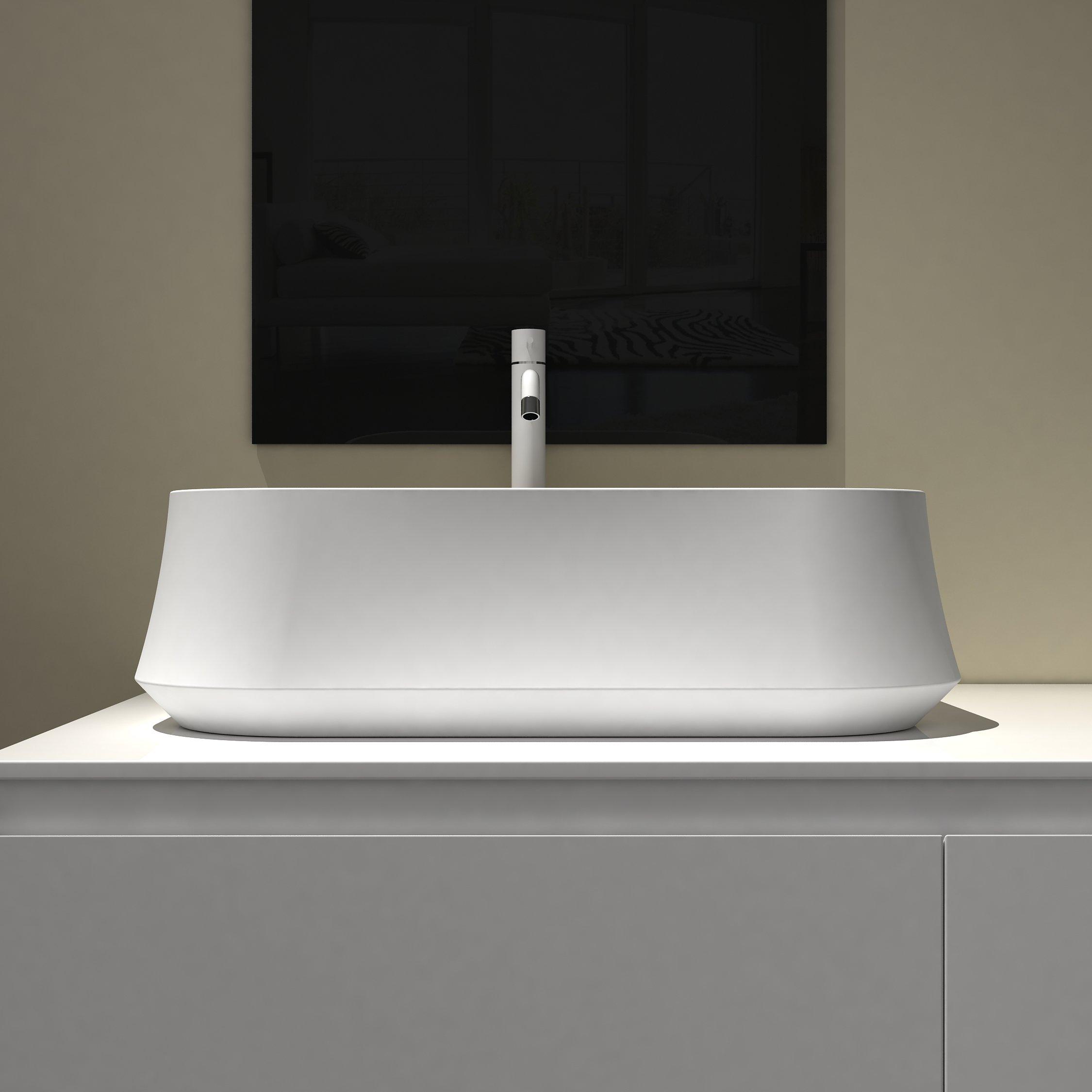 Aufsatzwaschbecken PB2161 aus Mineralguss Solid Stone – 60 x 42 x 16 cm – in Matt oder Hochglanz
