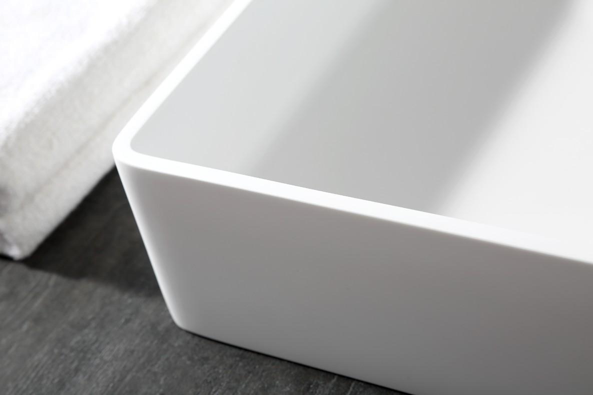 Aufsatzwaschbecken Aqua aus Mineralguss Pure Acrylic - 48x32x10,5cm - in Matt oder Hochglanz zoom thumbnail 6