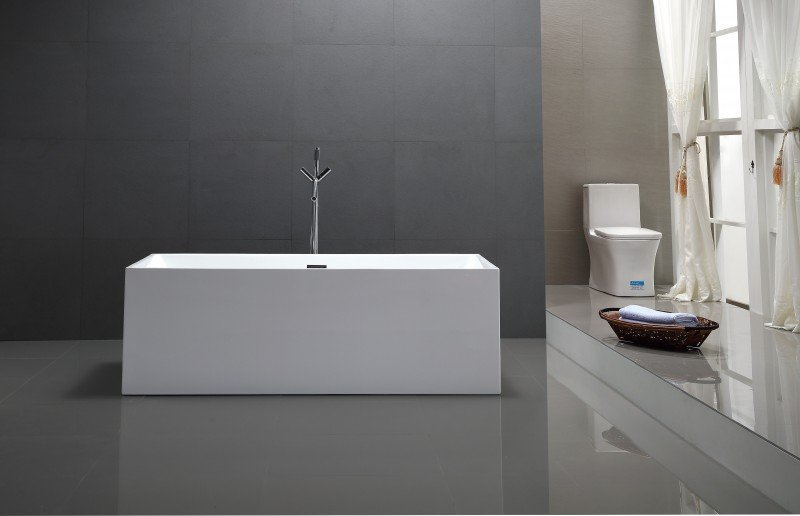 Freistehende Badewanne COMFORT aus Sanitäracryl - 170x80x60cm - Standarmatur optional wählbar
