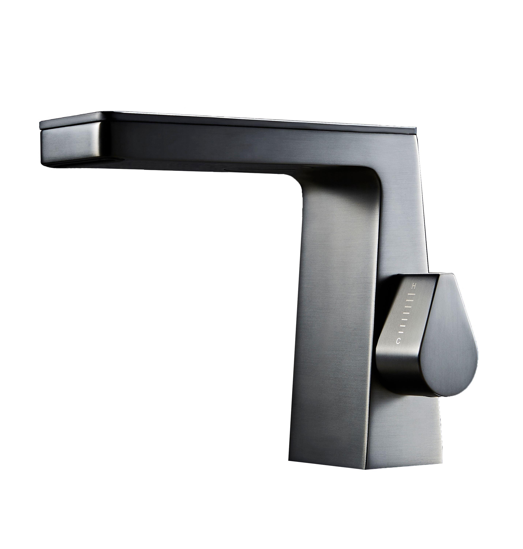 Design Wasserfall Waschtischarmatur NT7320 - Wasserhahn in Schwarz matt, Weiß matt, Gunmetal