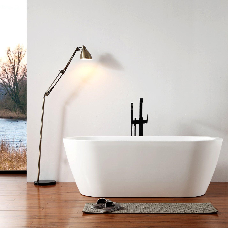 Freistehende Badewanne JAZZ Acryl weiß - 173 x 78 cm - Armatur optional