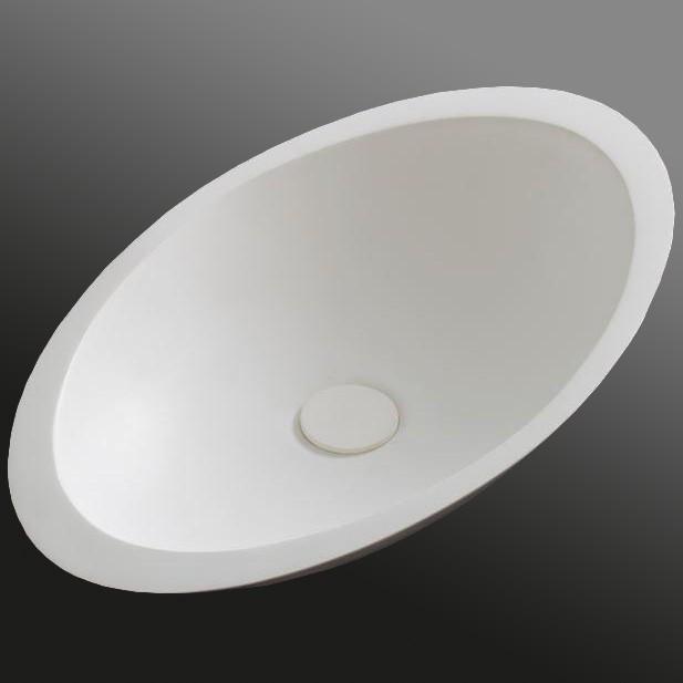 Aufsatzwaschbecken TWA05 aus Mineralguss (Pure Acrylic) - Matt - 60,5 x 38 x 14,5 cm