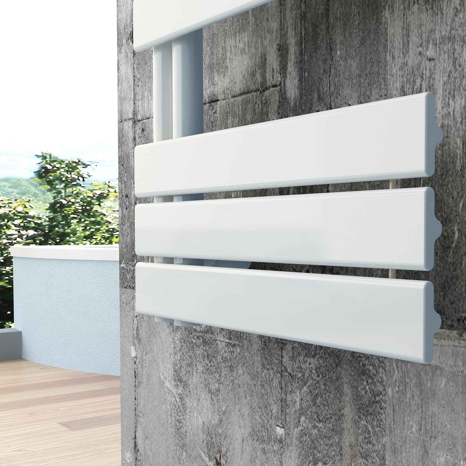 Design Badheizkörper Handtuchwärmer D16W in Weiß - Größe wählbar zoom thumbnail 3