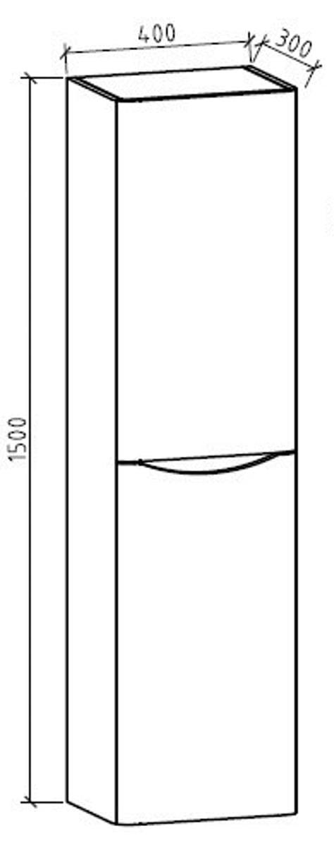 Seitenschrank für Badmöbel-Set SMILE - Farbe wählbar zoom thumbnail 5