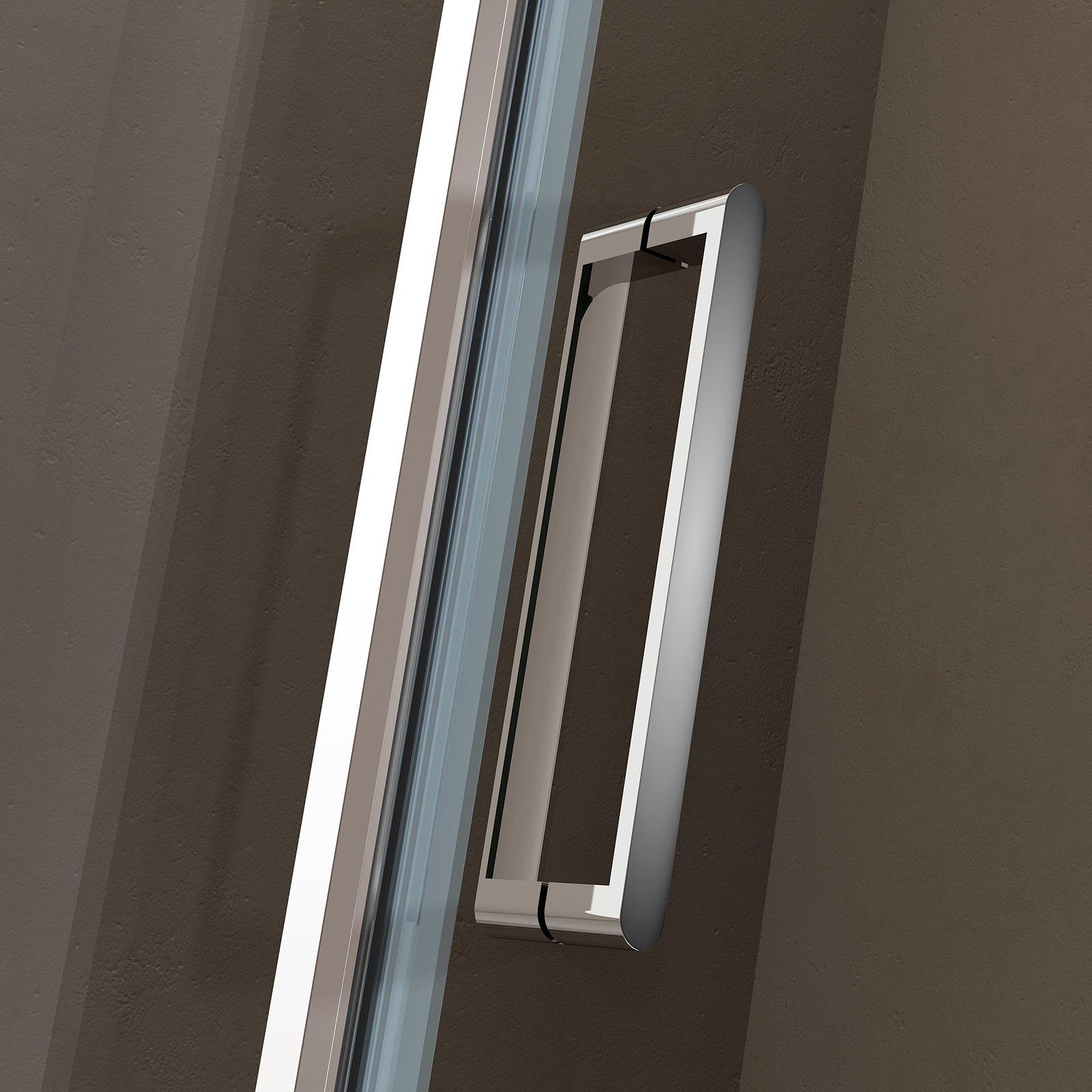 Duschkabine Eckdusche Nano 8mm Echtglas NT416 - Profilfarbe & Breite wählbar zoom thumbnail 5