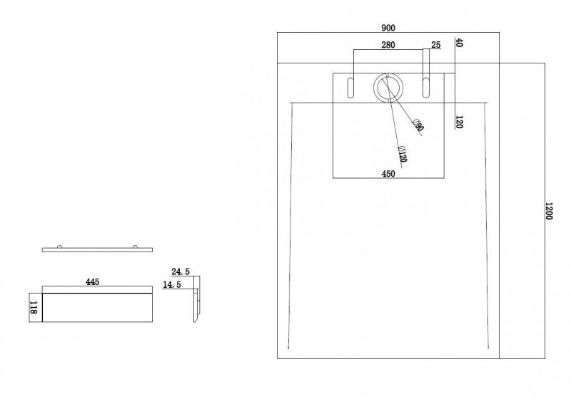 Mineralguss Duschtasse rechteckig M2290CW / PB3085G - Weiß glänzend - 120x90x3,5cm zoom thumbnail 3