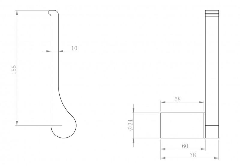 Edler Toilettenpapierhalter SDVTPH Design rund - Serie VERSA - chrom zoom thumbnail 3