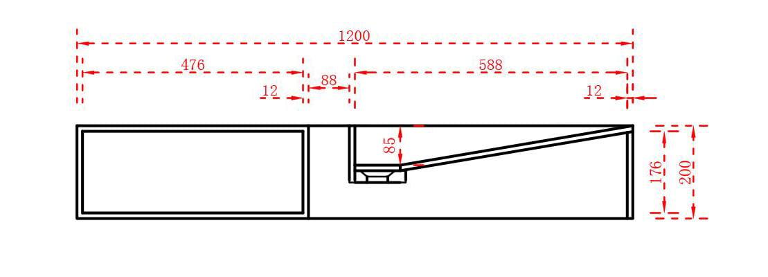 Aufsatzwaschbecken Wandwaschbecken TWG06 aus Mineralguss Solid Stone - 120 x 42 x 20 cm zoom thumbnail 5