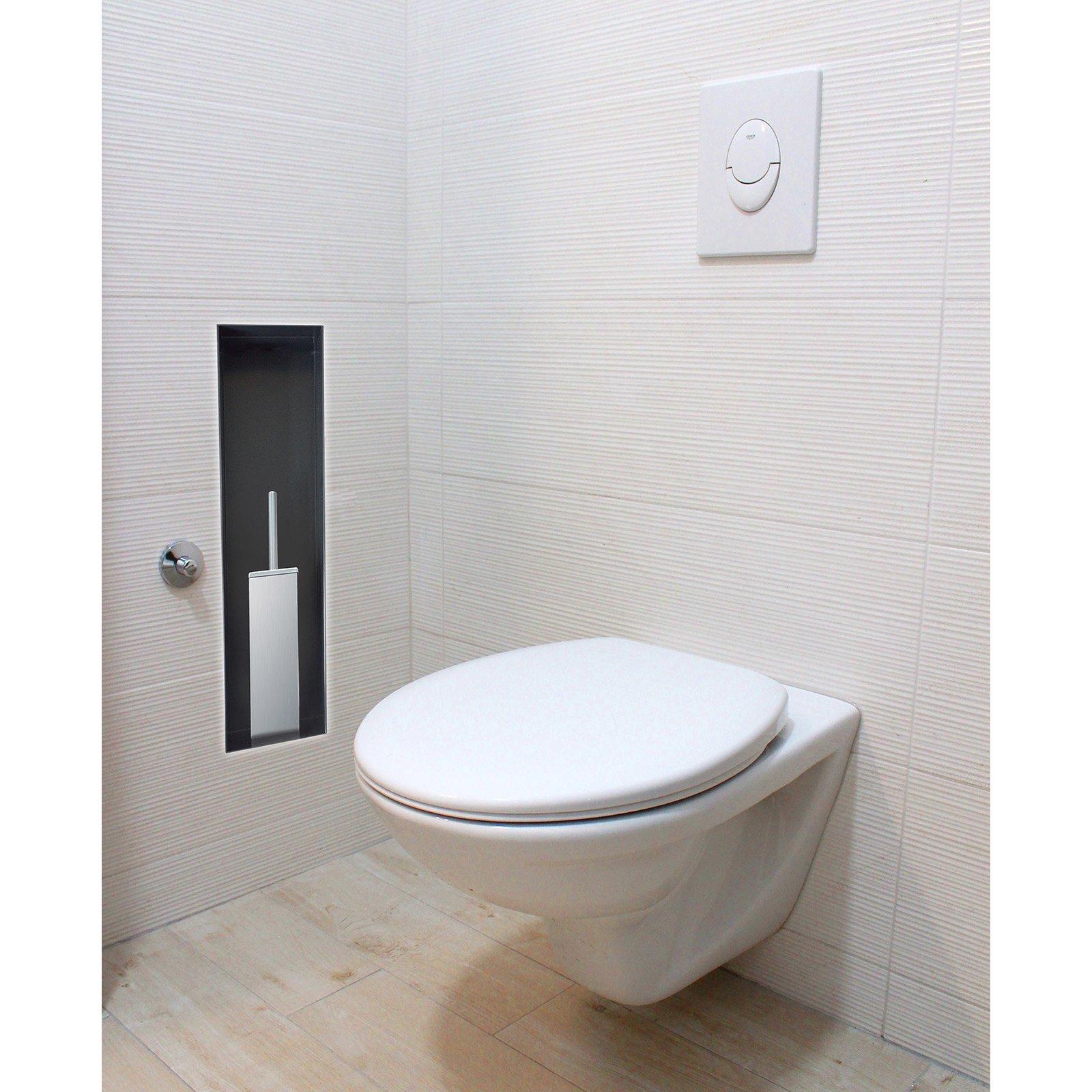 BERNSTEIN Wandnische aus Edelstahl BS156010 randlos - 15 x 60 x 10 cm - Weiß zoom thumbnail 5