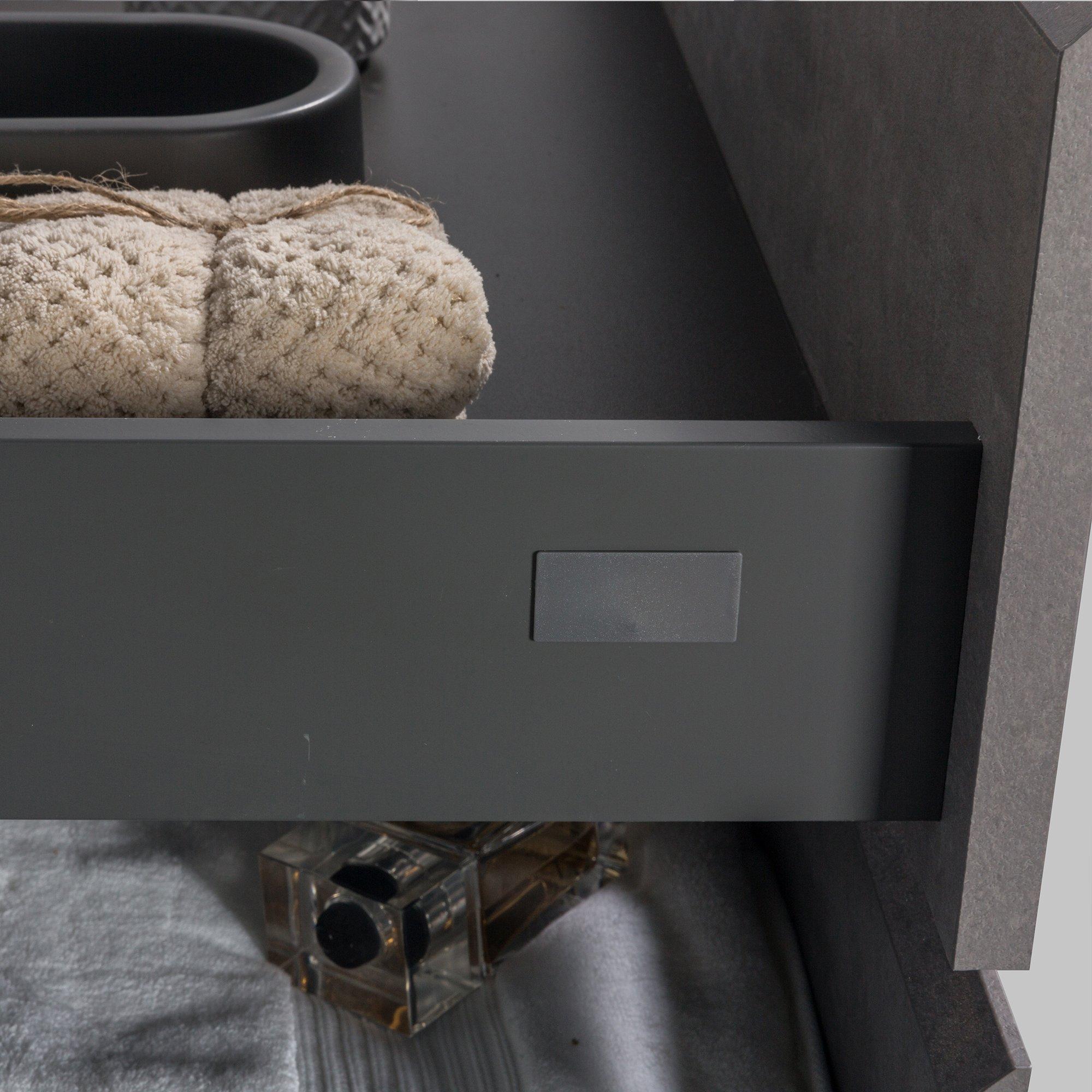 Badmöbel-Set Alice 1200 Beton-Optik - Spiegel und Seitenschränke optional zoom thumbnail 5