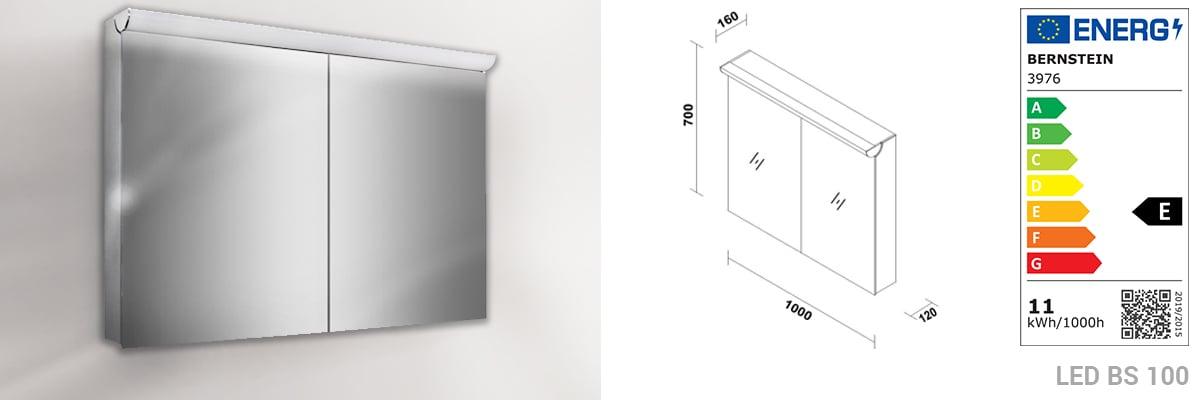 Badmöbel Vision 1000 Weiß matt - Spiegel und Aufsatzwaschbecken optional zoom thumbnail 5