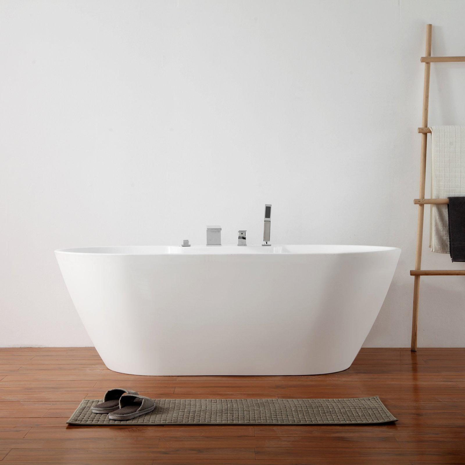 Freistehende Badewanne JAZZ PLUS Acryl weiß glänzend - 170 x 80 cm - Zubehör optional zoom thumbnail 4
