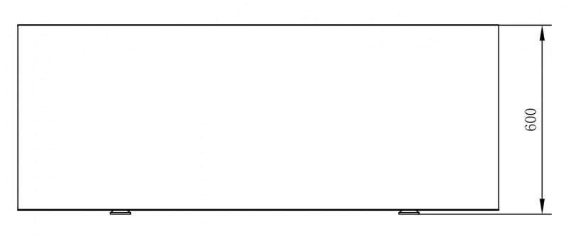 Freistehende Badewanne COMFORT aus Sanitäracryl - 170x80x60cm - Standarmatur optional wählbar zoom thumbnail 4