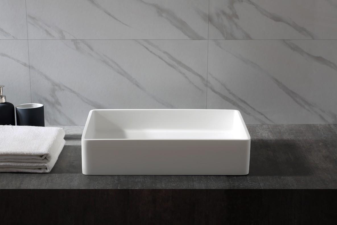 Aufsatzwaschbecken Aqua aus Mineralguss Pure Acrylic - 48x32x10,5cm - in Matt oder Hochglanz zoom thumbnail 3