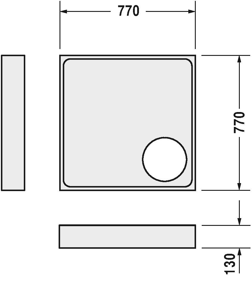Duravit Starck Duschwannenträger Weiß  770