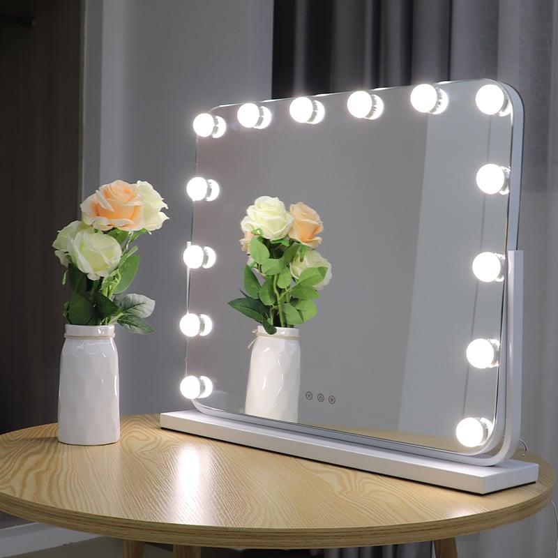 Hollywood Kosmetikspiegel Lichtspiegel R600 inkl. 14 LEDs - Farbe wählbar zoom thumbnail 5