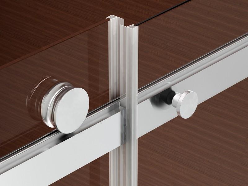 Duschkabine NANO 8mm Echtglas EX806 Schiebetür - 80 x 120 x 195 cm zoom thumbnail 6