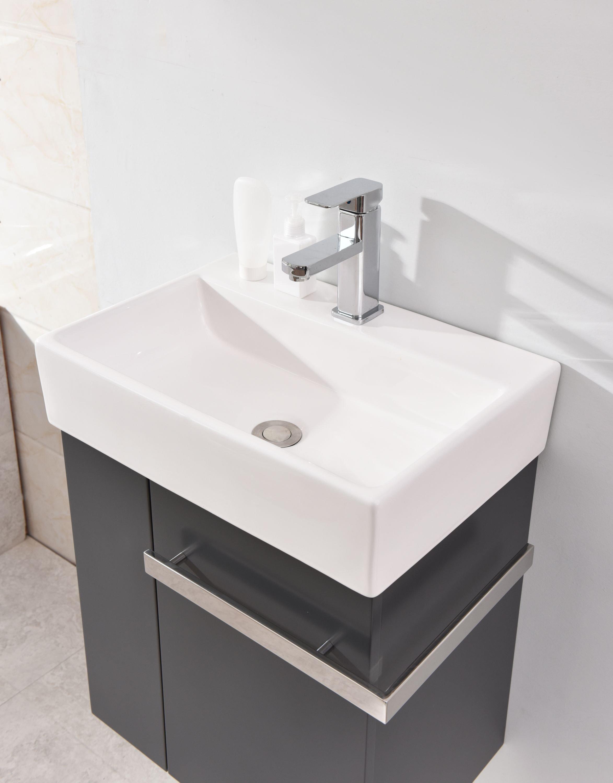 Badmöbel-Set Compact 500 für Gäste-WC - Anthrazit matt zoom thumbnail 4