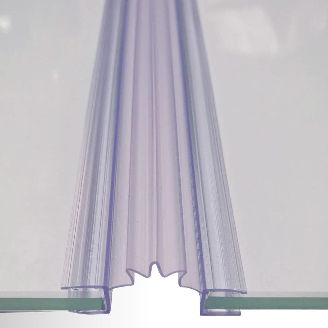 Duschdichtung für Falttüre - Ziehharmonikaprofil - für BERNSTEIN Duschkabine EX213 - Glasstärke 6 mm