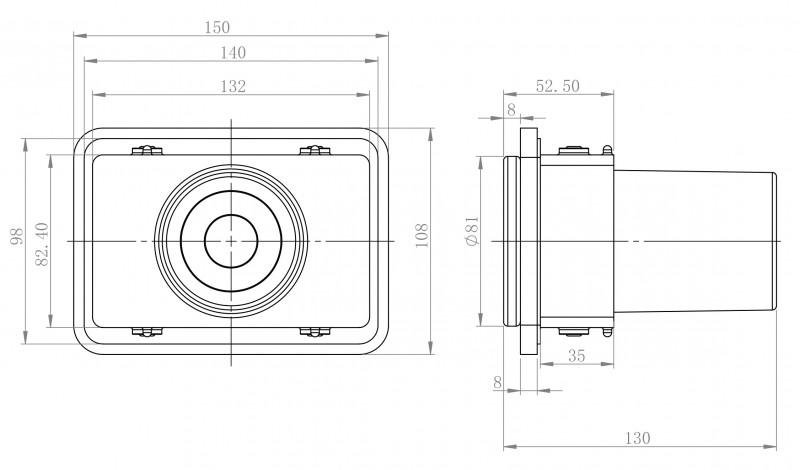 Ablage SDLZPBA inkl. Zahnputzbecher - passend zu den Handtuchhaltern SDLHH45 und SDLHH60 - Serie LINEAR - chrom zoom thumbnail 4
