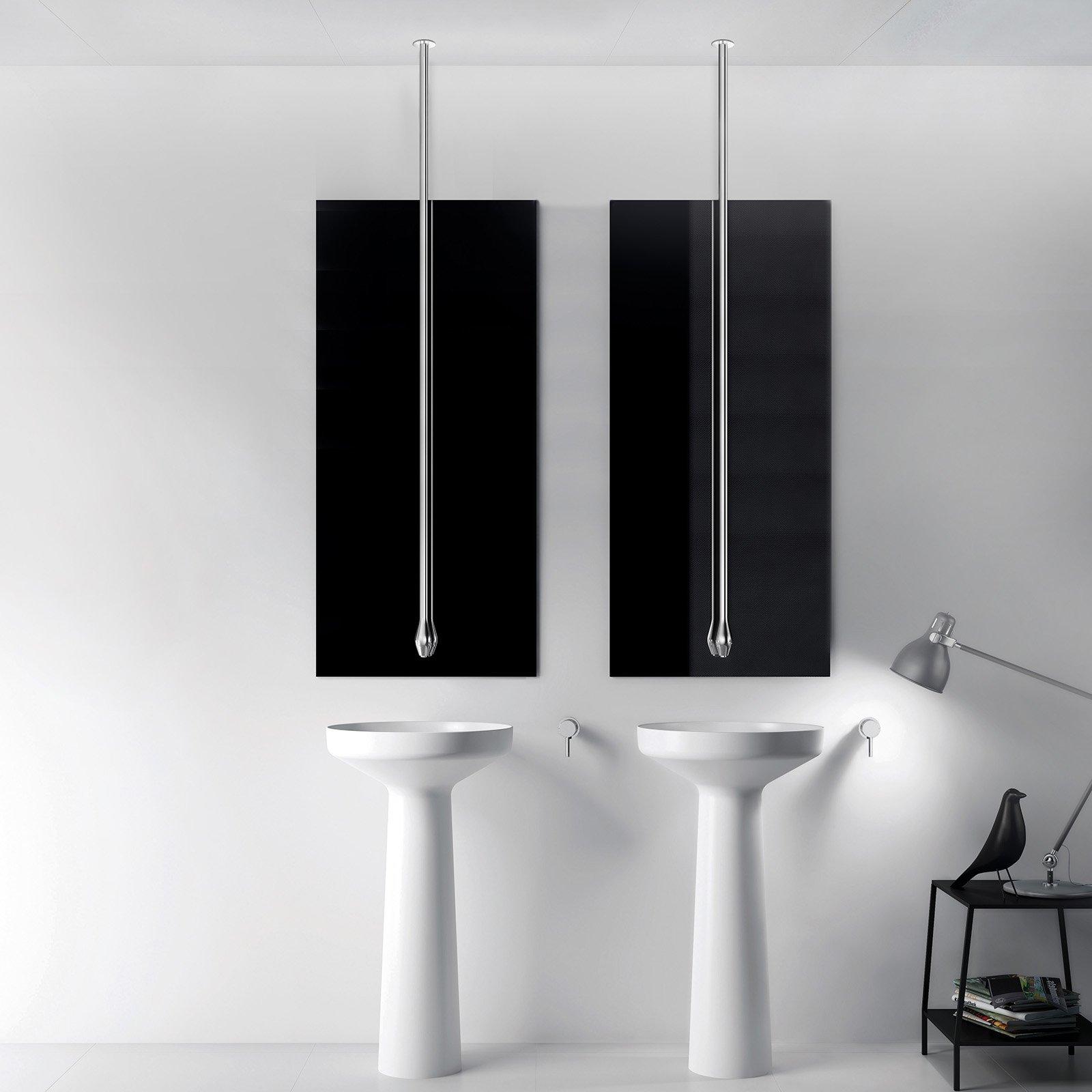 Waschtisch Deckenarmatur DROP 135 mit Eingriffmischer - Länge 135 cm - Farbe Chrom & Schwarz matt wählbar