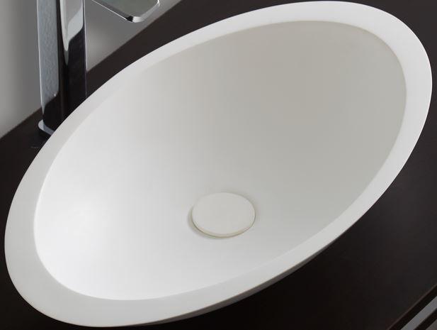Waschbecken Pop-up Blende aus Mineralguss für Ablaufgarnitur - Farbe Weiß Matt zoom thumbnail 4