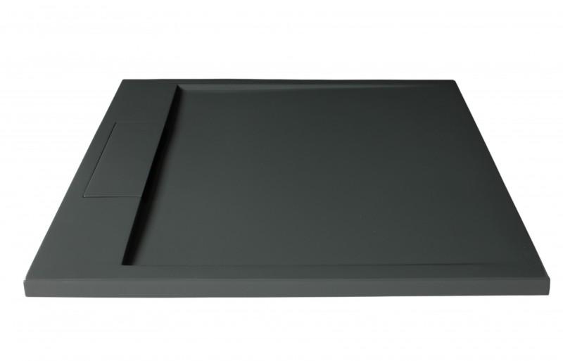 Mineralguss Duschtasse quadratisch M9090CG / PB3087GG - Grau glänzend - 90x90x3,5cm