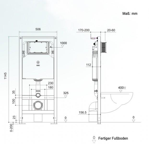WC-Vorwandelement G3004A inkl. Betätigungsplatte - Modell wählbar zoom thumbnail 5
