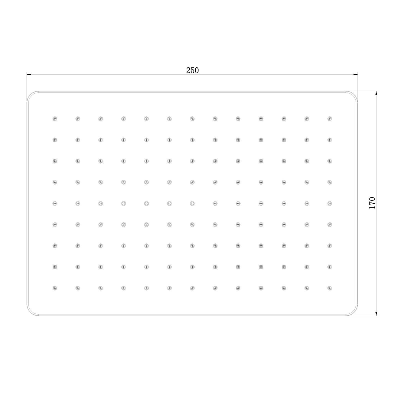 Regendusche ABS-Duschkopf D2517 selbstreinigend - 25 x 17 cm - Farbe wählbar zoom thumbnail 5