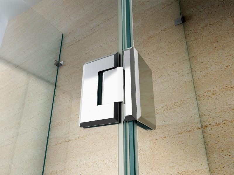 Duschkabine U-Form 8 mm Nano Echtglas EX412 - 120 x 80 x 195 cm zoom thumbnail 3