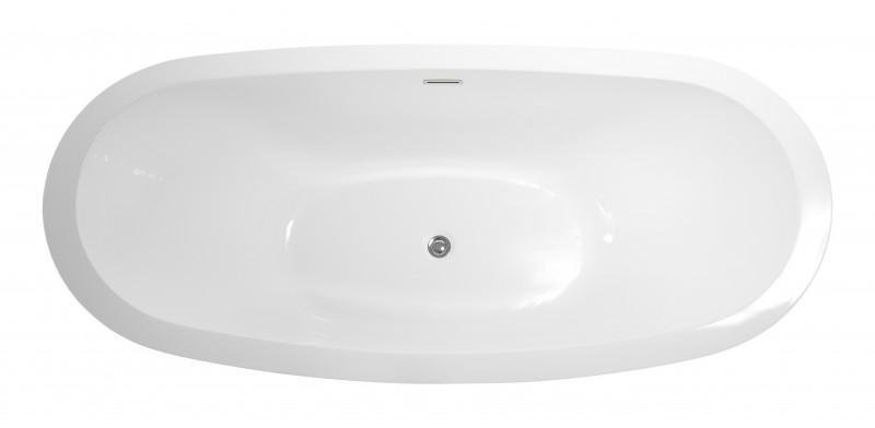 Freistehende Badewanne VALENZIA Acryl Weiß - 175x85cm - Standarmatur optional wählbar zoom thumbnail 4