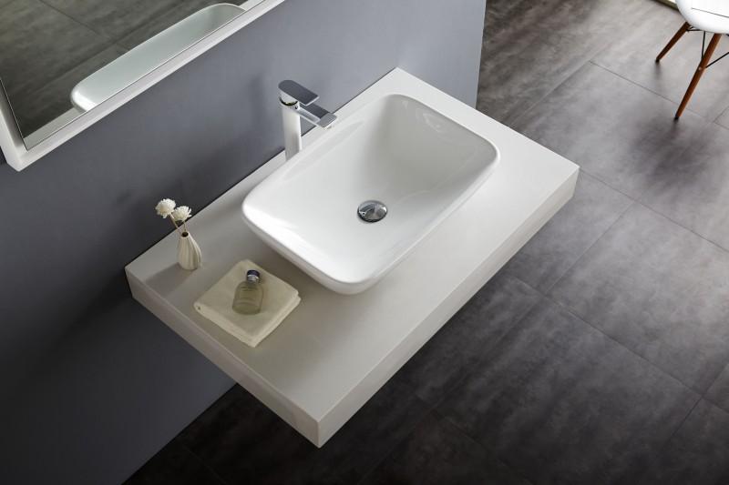 Aufsatzbecken Aufsatz-Waschbecken NT3155 - Badkeramik - 58x38,5cm zoom thumbnail 5