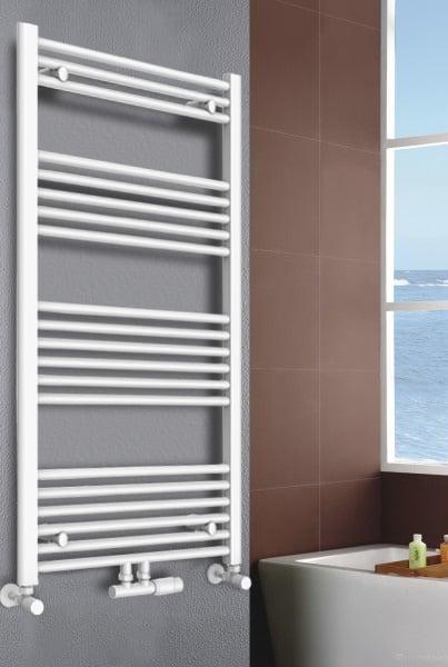 Badheizkörper Handtuchwärmer Weiß gerade - R18W
