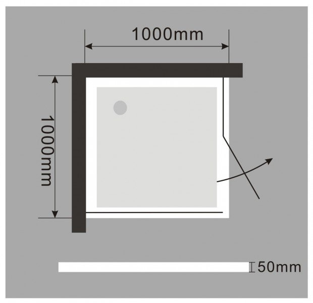 Duschkabine Eckdusche Nano EX403 - 100 x 100 x 195 cm inkl. Duschtasse zoom thumbnail 6