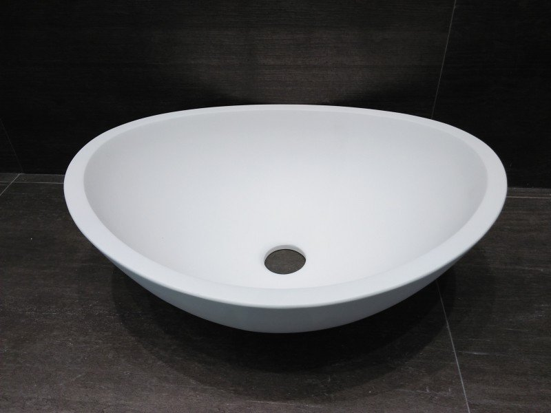 Aufsatzwaschbecken TWA29 aus Mineralguss (Pure Acrylic) - Weiß matt - 42x34x15cm zoom thumbnail 3