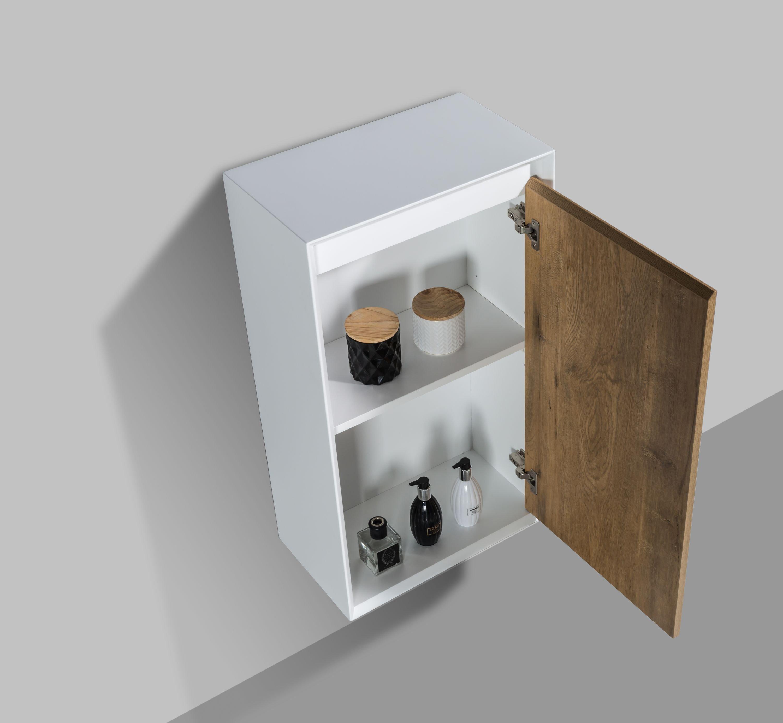 Seitenschrank Fiona - passend zum Badmöbel-Set - Beton-Optik / Eiche-Optik zoom thumbnail 6