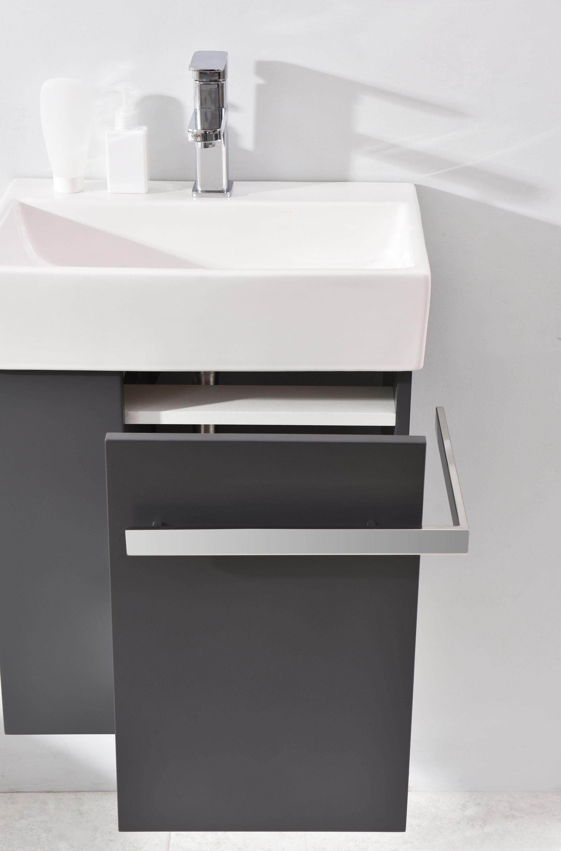 Badmöbel-Set Compact 500 für Gäste-WC - Anthrazit matt zoom thumbnail 5