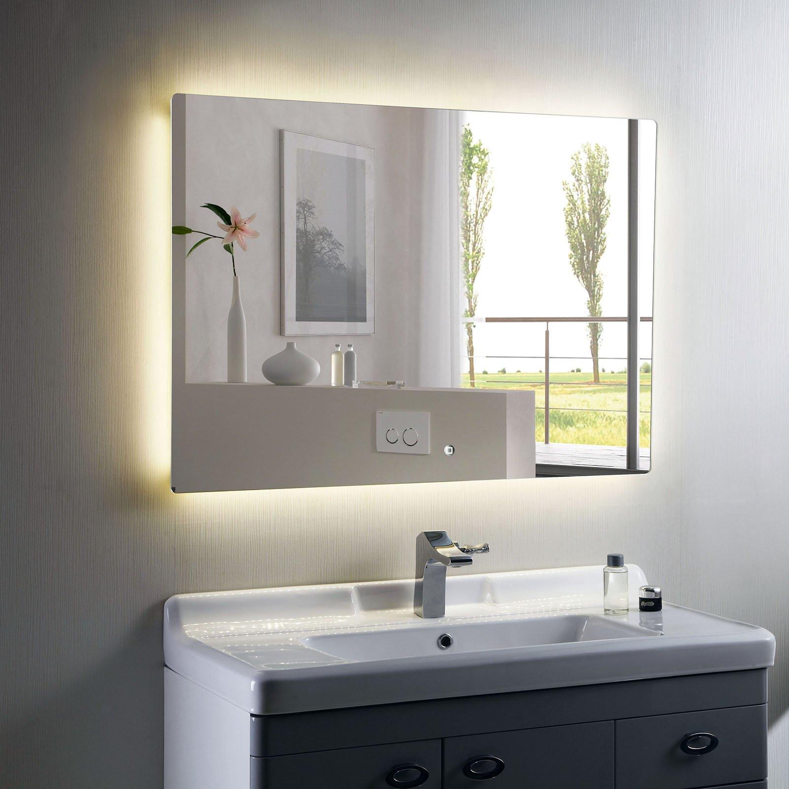 LED Lichtspiegel Badspiegel 2137 - Breite wählbar