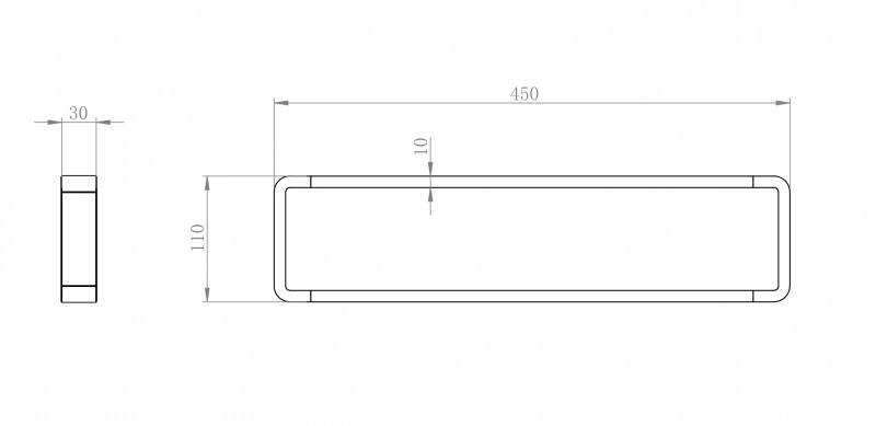 Hochwertiger Handtuchhalter SDLHH45 - Serie LINEAR - chrom - Zahnputzbecher / Seifenspender / Ablage optional  zoom thumbnail 4