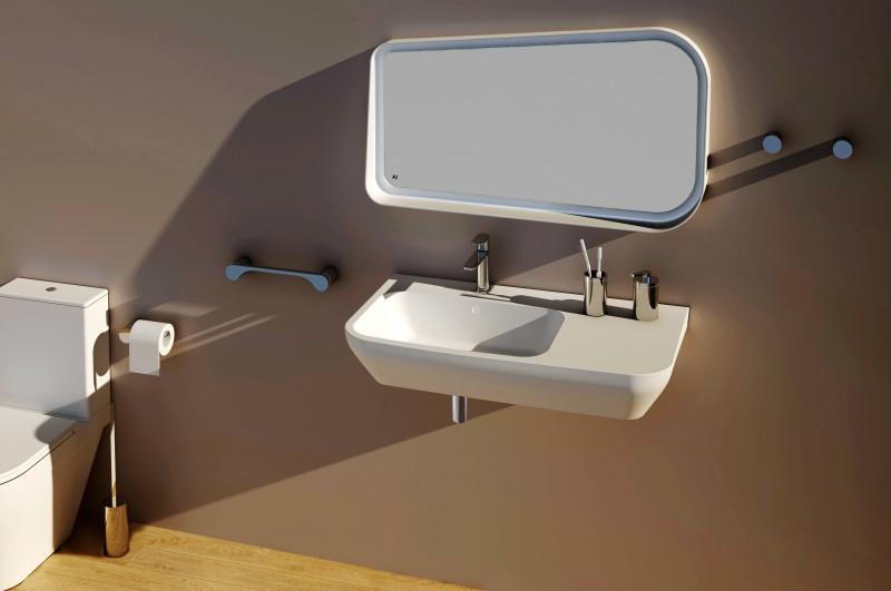 Edler Toilettenbürstenhalter SDVTBH Design rund - Serie VERSA - chrom zoom thumbnail 3