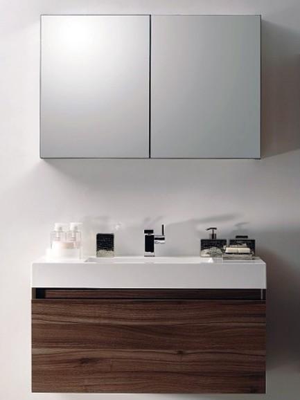 Badmöbel-Set A1000 Basic Walnuss inkl. Spiegelschrank