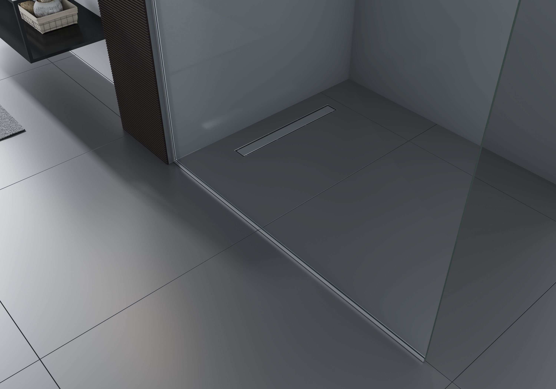 Walk-In 10mm Nano Echtglas EX102 - Klarglas - 2 Glaswände & 14mm Edelstahlprofil - Profilfarbe & Breite wählbar zoom thumbnail 3