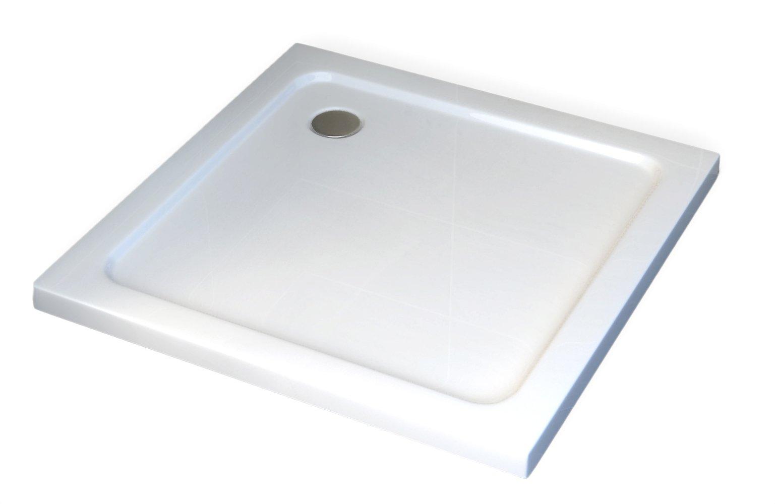 Duschtasse Duschwanne quadratisch - 90 x 90 cm inkl. Ablaufgarnitur zoom thumbnail 4