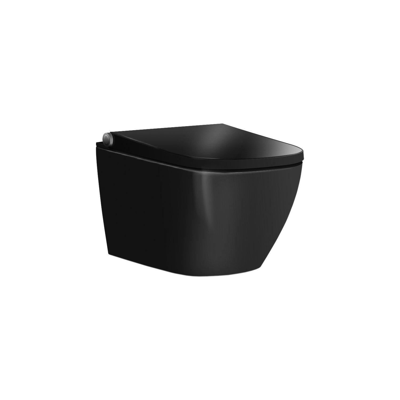 BERNSTEIN Dusch-WC Basic 1104 in Schwarz glänzend - mit Gesäß- und Ladydusche