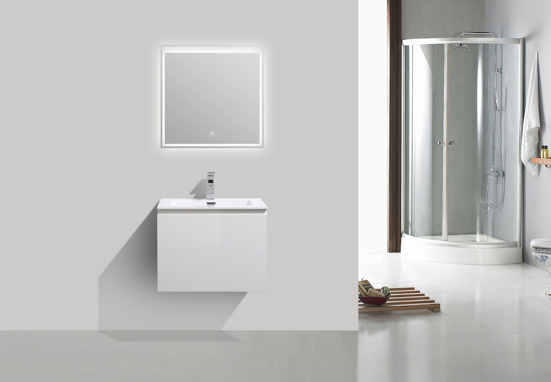 Badmöbel-Set Alice 600 Weiß hochglanz - Spiegel optional